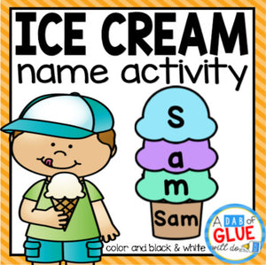 Ice Cream Editable Name Activity