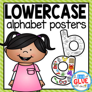 Lowercase Alphabet Posters