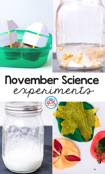 To connect the fall season with science I've created four November Science Experiments so our students can review science in an enjoyable hands-on way!