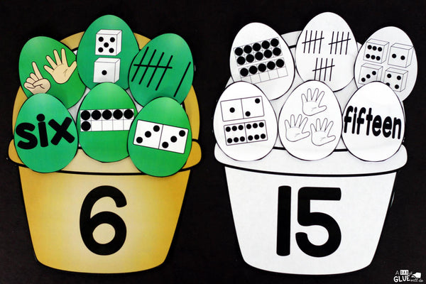 Make learning fun with these themed Initial Sound and Number Match-Ups. Your elementary age students will love this fun Easter themed literacy center and math center! Perfect for literacy stations, math stations, or small review groups. Use in your Preschool, Kindergarten, and First Grade classrooms. Black and white options available to save your c