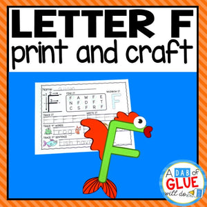 Letter F Activities: Uppercase Letter Craft and Alphabet Worksheet