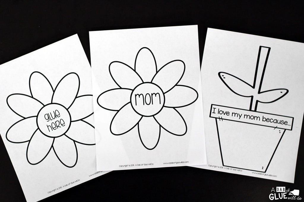 mother's day card craft  flower gift  a dab of glue will do