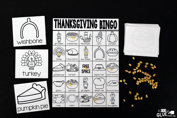 Play Bingo with your elementary age students for a fun Thanksgiving themed game! Perfect for large groups in your classroom or small review groups. Add this to your Thanksgiving lesson plans with 30 unique Halloween Bingo boards with your students! This is a great way to introduce or review everything about Thanksgiving. Students will not even know