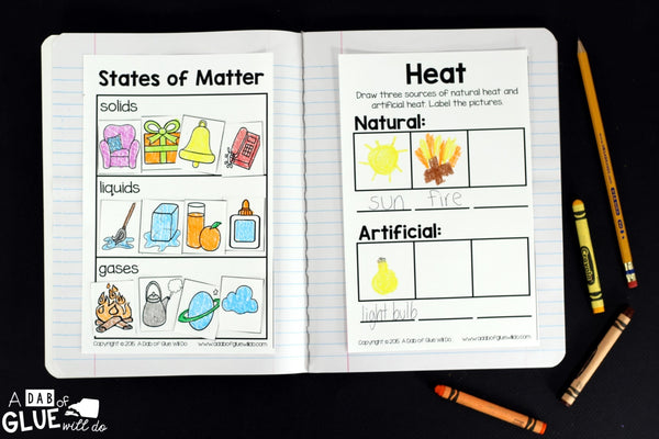 Engage your students in exciting science lessons with this interactive science journal. This science notebook is perfect for science centers in Kindergarten, First Grade, and Second Grade classrooms and packed full of interactive science activities. Students will learn about science topics such as magnets, senses, weather, plant science, and much m