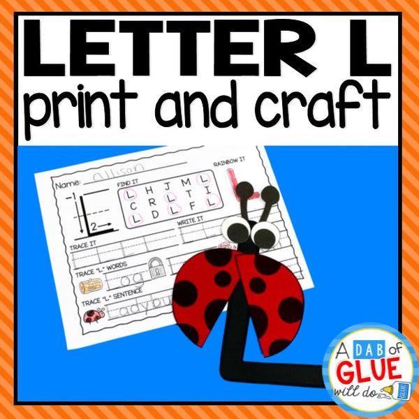Letter L Activities: Uppercase Letter Craft and Alphabet Worksheet