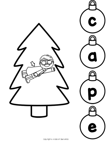 Christmas Word Building Activity Bundle - CVC, CVCC, CVCE, and CCVC Words