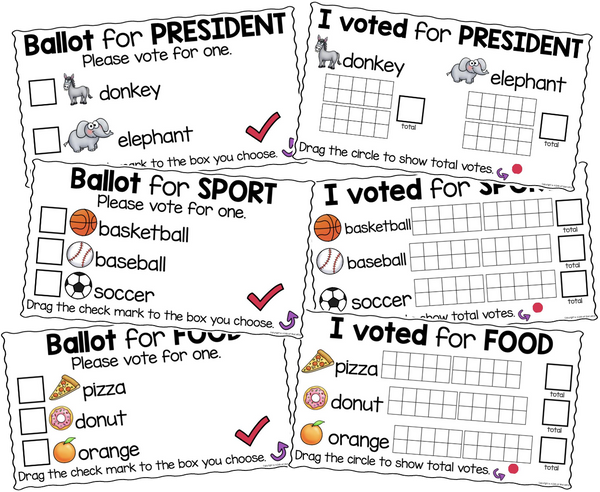 Voting Activity Digital for Kindergarten Google Classroom (Distance Learning)