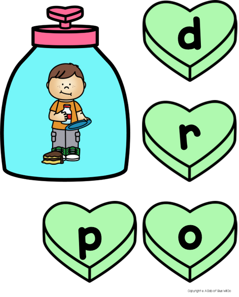Valentine's Day CCVC Word Building Activity