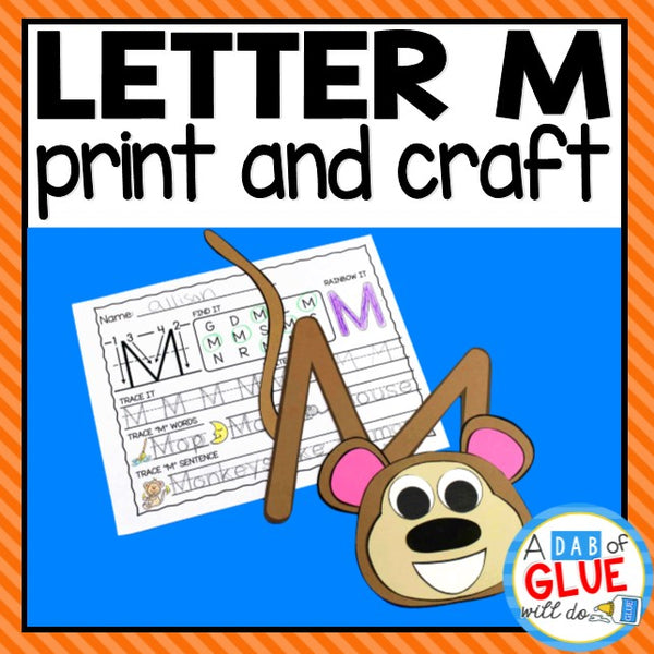 Letter M Activities: Uppercase Letter Craft and Alphabet Worksheet