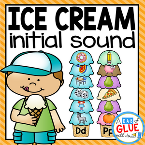 Ice Cream Initial Sound Match-Up