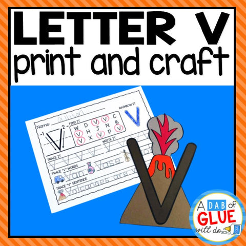 Letter V Activities: Uppercase Letter Craft and Alphabet Worksheet
