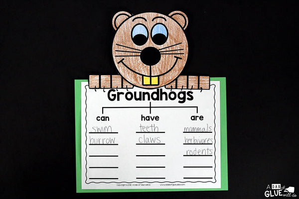 Engage your class in an exciting hands-on experience learning all about groundhogs! This Groundhog: An Animal Study is perfect for science in Preschool, Pre-K, Kindergarten, First Grade, and Second Grade classrooms and packed full of inviting science activities. Students will learn about the difference between groundhogs and beavers, mammals, parts