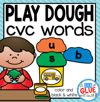 Play Dough CVC Word Building Activity