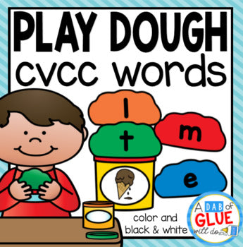 Play Dough CVCC Word Building Activity