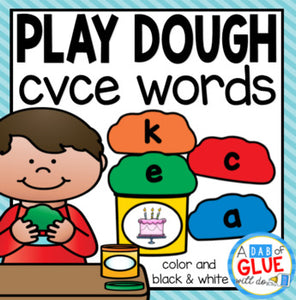 Play Dough CVCE Word Building Activity