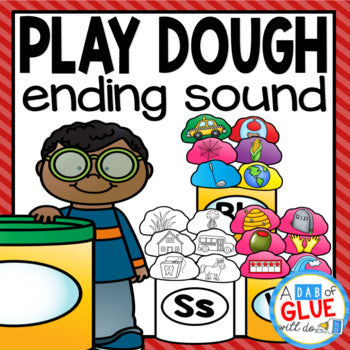 Play Dough Ending Sound Match-Up