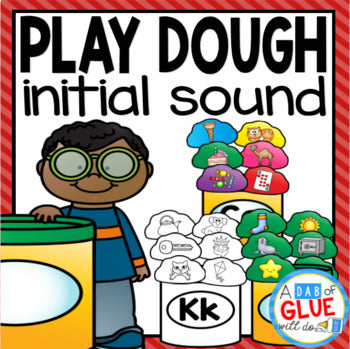 Play Dough Initial Sound Match-Up