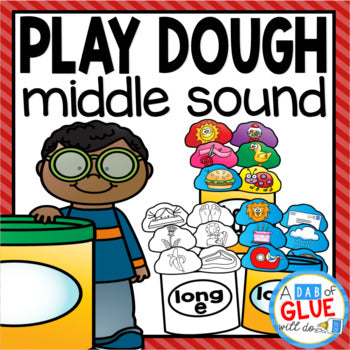 Play Dough Middle Sound Match-Ups