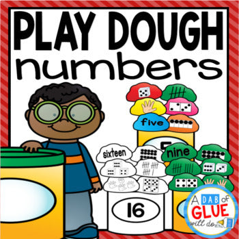 Play Dough Number Match-Up