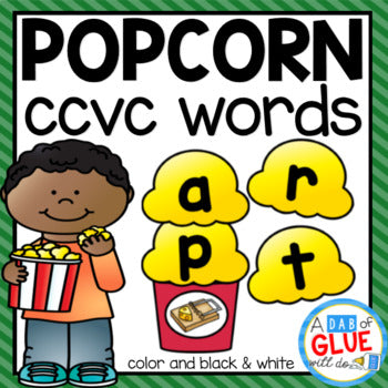 Popcorn CCVC Word Building Activity