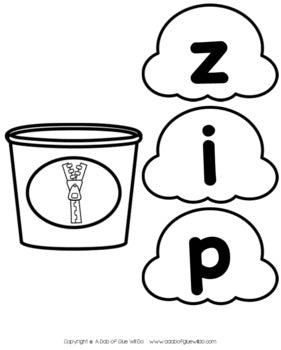 Popcorn CVC Word Building Activity