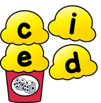 Popcorn CVCE Word Building Activity