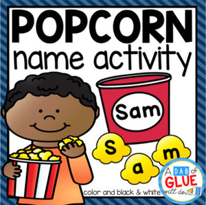 Popcorn Editable Name Activity