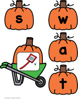 Pumpkin CCVC Word Building Activity