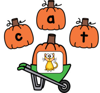 Pumpkin CVC Word Building Activity
