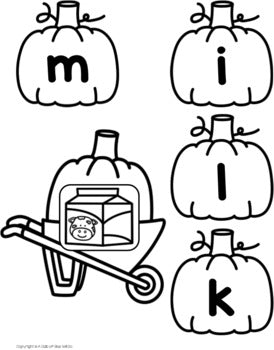 Pumpkin CVCC Word Building Activity