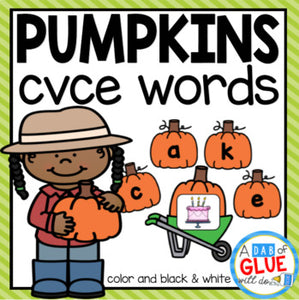 Pumpkin CVCE Word Building Activity