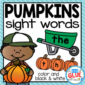 Pumpkin Editable Sight Words