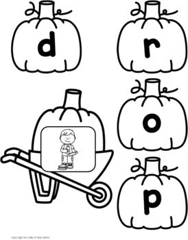 Pumpkin Word Building Activity Bundle - CVC, CVCC, CVCE, and CCVC Words