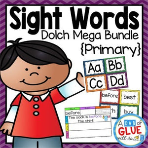 Sight Word Activities, Centers, and Word Wall Dolch Mega Bundle {Primary}