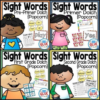 Sight Word Activities, Centers, and Word Wall Dolch Mega Bundle {Popcorn}
