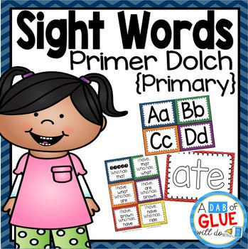 Sight Word Activities, Centers, and Word Wall Dolch Primer {Primary}