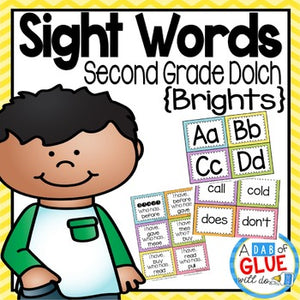 Sight Word Activities, Centers, and Word Wall Dolch Second Grade {Brights}