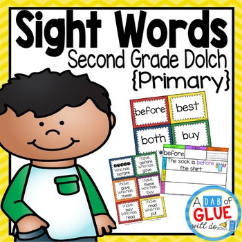 Sight Word Activities, Centers, and Word Wall Dolch Second Grade {Primary}