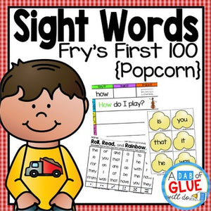 Sight Word Activities, Centers, and Word Wall: Fry First 100 {Popcorn}