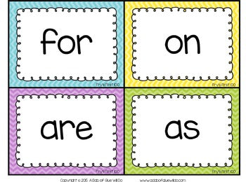 Sight Word Activities, Centers, and Word Wall Fry's First 100 {Brights}