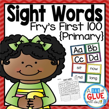 Sight Word Activities, Centers, and Word Wall Fry's First 100 {Primary}