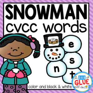 Snowman CVCC Word Building Activity