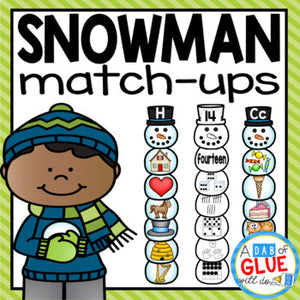 Snowman Match-Ups Bundle