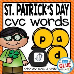 St. Patrick's Day CVC Word Building Activity
