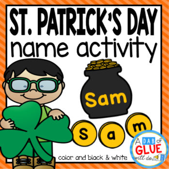 St. Patrick's Day Editable Name Activity