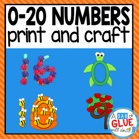 0-20 Number Activities: Number Worksheets and Number Crafts