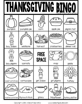 BINGO: Thanksgiving
