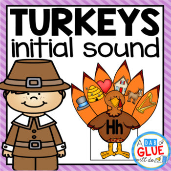 Turkeys Initial Sound Match-Up
