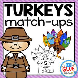 Turkeys Match-Ups Bundle