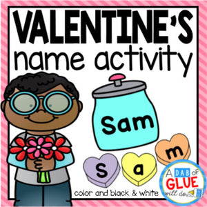 Valentine's Day Editable Name Activity